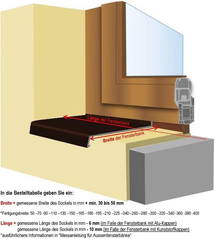 Messanleitung für Außenfensterbänke | Innenfensterbänke und ...