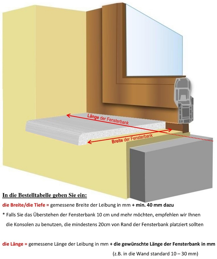 gussmarmor fensterb nke puritamo innenfensterb nke und. Black Bedroom Furniture Sets. Home Design Ideas